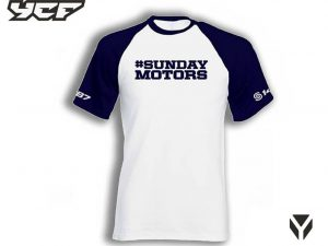 T-Shirt Sunday Wit/Navy